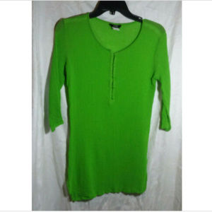 J. Crew Green Cotton Pullover Blouse